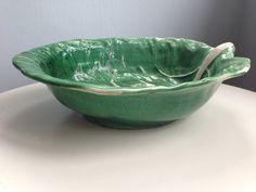 Excepionally fine Fruit Dish Leaf bowl by Gerber by HouseOfKain