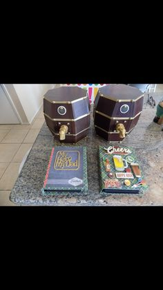 Beer Kegs created by crafter  Connie Partridge.  Click on the link below to purchase the tutorial.   http://shop.paperphenomenon.com/Beer-Keg-w-Mini-Album-Tutorial-Video-Combo-tutvid0125.htm