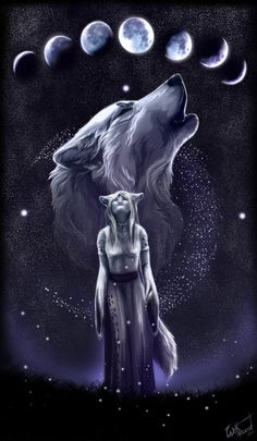 She looked into the sky and her heart fluttered seeing the wolf she turned into every night or rather what she transformed out of every morning