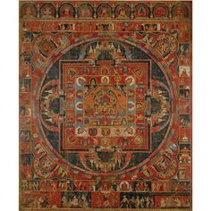 Tibetan Buddhist Vasudhara Mandala, signed Jasaraja Jirila, dated Tibetan Mandala, Tibetan Art, Tibetan Buddhism, Buddhist Art, Tantra, Mandala Painting, Thangka Painting, Mandala Art, Classic Paintings