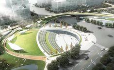 circle as a principe - Modern Landscape Stairs, Landscape Architecture Design, Urban Architecture, Architecture Portfolio, Futuristic Architecture, Urban Landscape, Amphitheater Architecture, Design D'espace Public, Architecture Classique