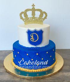 Baby prince 1st Boy Birthday, Birthday Cake, Pastel Mickey, Baby Prince, Beautiful Baby Shower, Themed Cakes, Baby Shower Cakes, Yummy Cakes, Christening
