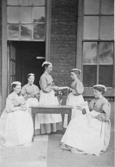 Vintage Victorian hospital photo.