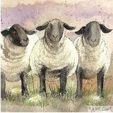 Image result for sheep in a landscape mary fedden