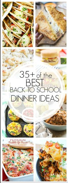 With fall right around the corner, having easy meals for school nights is essential! Here are the best back to school dinner recipes. Entree Recipes, Easy Dinner Recipes, Easy Meals, Cooking Recipes, Dinner Ideas, School Dinner Recipes, Easy Recipes, Meal Ideas, Food Ideas