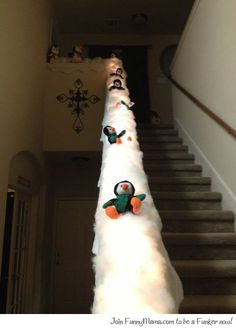 Turn your banister into a penguin slide...