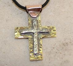 MORE DESIGNS from ARKETIPO handmade jewelry can be found here:  http://www.etsy.com/shop/ARKETIPO  ………………  This cross is HANDMADE entirely by myself in