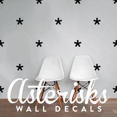 Asterisks Wall Decal Pack, Vinyl Wall Sticker Decal Art Geometric Pattern WAL-2178