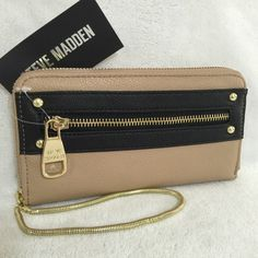 "Selling this ""Steve Madden Colorblock Zip Around Wallet Wristet"" in my Poshmark closet! My username is: mtnoonan. #shopmycloset #poshmark #fashion #shopping #style #forsale #Steve Madden #Bags"