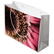Pink Gerbera Daisy Large Gift Bag