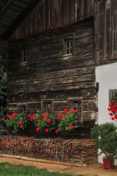 historic alpine farmhouse, Alps, Austria ....
