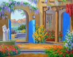 Жизнерадостные и красочные картины Mikki Senkarik - Ярмарка Мастеров - ручная работа, handmade