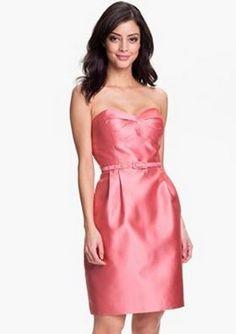 pink bridesmaid dress. love!