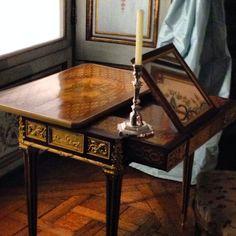 Mechanical table owned by Marie Antoinette. Metropolitan Museum of Art, NYC.
