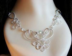 Eosheal Ornate Wire Necklace. $26.00, via Etsy.