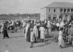 Jerusalem food market - about a hundred years ago