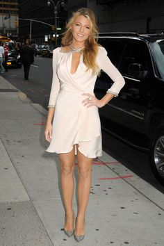 Blake Lively with a Jenny Packham dress.