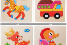 4PCS Kids Animals 3D Puzzle Wooden Educational Toys Games For Children GiftsLearning & Education 24 patterns puzzles toy WJ302 dans Puzzles de Jouets & Loisirs sur AliExpress.com | Alibaba Group