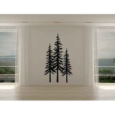 online shopping for Pine Evergreen Trees Set Three Vinyl Home Decor Wall Decal Sticker from top store. See new offer for Pine Evergreen Trees Set Three Vinyl Home Decor Wall Decal Sticker Black Wall Stickers, Wall Decal Sticker, Vinyl Decals, Evergreen Tree Tattoo, Evergreen Trees, Pine Tree Painting, Pine Tree Silhouette, Pine Tree Tattoo, Dream Wall