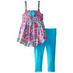f6a6fa2f510 A.B.S. by Allen Schwartz Little Girls Paisley Dress 2Pc Leggings Set Baby    Toddler Clothing