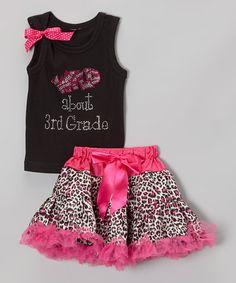 This Black 'Wild About 3rd Grade' Tank & Pettiskirt - Toddler & Girls is perfect! #zulilyfinds