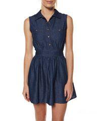 I need more easy casual dresses like this. MOTEL PAM DRESS - INDIGO