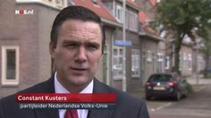 Nazi's getting the floor, also in the most important Dutch news bulletin, to spread their filth. Here Constant Kusters from the NCU-thugs.