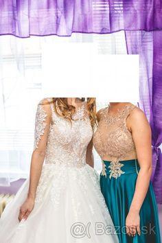 Čipkované svadobné šaty - 1