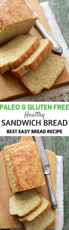 Healthy gluten free best bread recipes for the paleo diet. Healthy gluten free best bread recipes for the paleo diet. Best Bread Recipe, Easy Bread Recipes, Gluten Free Recipes, Real Food Recipes, Diet Recipes, Primal Recipes, Pan Paleo, Pan Sin Gluten, Paleo Vegan