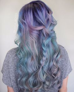 11 pastel green hair with lavender balayage - Styleoholic Pastel Green Hair, Purple Hair, Pastel Purple, Pink Color, Pretty Hairstyles, Mermaid Hairstyles, Scene Hairstyles, Fringe Hairstyles, Latest Hairstyles