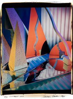 Another Barbara Kasten piece from Getting a clearer idea of how she works. It seems she builds these geometric constructions a la and takes large format photographs of them. And again - love her colours. Creative Photography, Art Photography, Plastic Vase, Geometric Construction, Cyanotype, Art World, Colours, Architecture, Large Format