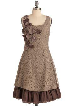 #Mocha Biscotti Dress, #ModCloth  Brown Dress #2dayslook #BrownDress #sunayildirim  www.2dayslook.com