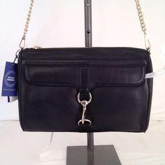 NWT REBECCA MINKOFF PALO ALTO CLUTCH HANDBAG BLACK LEATHER BAG MSRP: $325 #RebeccaMinkoff #Clutch