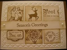 Sepia Winter post christmas  Beautiful card - used this as inspiration for a few of my cards this year - thank you!