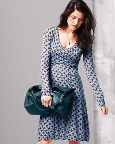 Surplice Sash Knit Dress from Garnet Hill $98