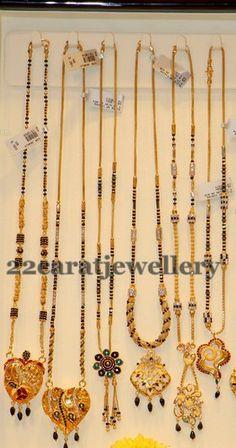 Jewellery Designs: Black Beads Set Simple Gallery
