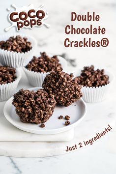 Birthday parties are never complete without the classic Kellogg's Chocolate Crackles! We've given your cereal favourite an upgrade with Coco Pops and dark chocolate. No Bake Treats, Yummy Treats, Delicious Desserts, Sweet Treats, Baking Recipes, Dessert Recipes, Good Food, Yummy Food, Coco