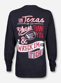 0052106b94ea55 Texas Tech Red Raiders Women s Long Sleeve Shirts