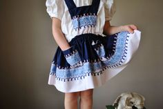 1970s Embroidered Folk Dress size 12 months to 2t by salvagehouse
