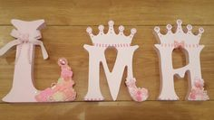 Pretty princess freestanding letters girly pink https://m.facebook.com/glamBeauty1/