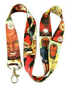 Avengers Comics Lanyard Keychain Badge Holder Style B | Balli Gifts