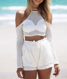 f4a1516b85 Krista Open Shoulder Mesh Playsuit from Fashion Struck
