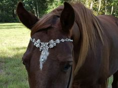 Faux Diamond Browband for Pony, Horse or Draft - Equine Bling Tack Brow Band Jewelry -  Horse Lover Gift for Valentine's Day