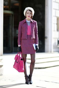 Fashion blogger Ella Catliff (La Petite Anglaise) shows us the power of pink.