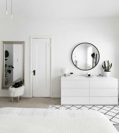 How to Achieve a Minimal Scandinavian Bedroom is part of Minimalist bedroom Interior - Tips for styling a modern and Scandinavian interior Light and neutral monochrome bedroom Modern Minimalist Bedroom, Interior Design Minimalist, Minimal Bedroom, Minimalist Home, Modern Bedroom, Contemporary Bedroom, White Bedrooms, Bed Room White, Contemporary Design