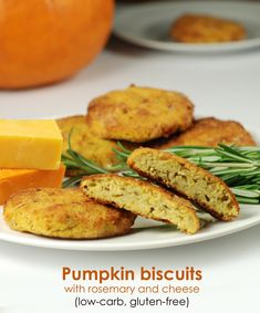 Pumpkin biscuits with cheese, low-carb and gluten-free