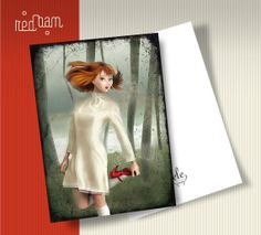 Postcard SCARPETTE ROSSE The Red Shoes by elelands on Etsy