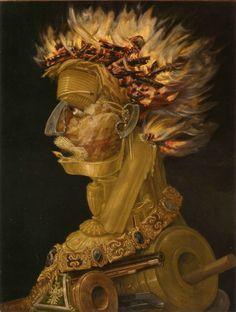 Giuseppe Arcimboldo, 'Fire', 1566, Kunsthistorisches Museum, Vienna.