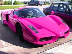 Special cars: Ferrari Enzo Ferrari (pink) Or how to F a beautiful car up.