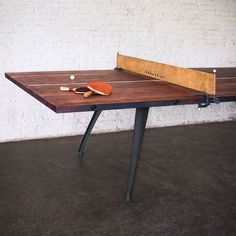 Reclaimed Wood Ping Pong Table
